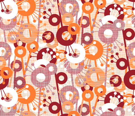 Sticks & Spots, Stripes & Dots: Blood Orange fabric by sammyk on Spoonflower - custom fabric