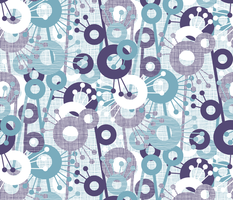 Sticks & Spots, Stripes & Dots: Plum Aqua fabric by sammyk on Spoonflower - custom fabric