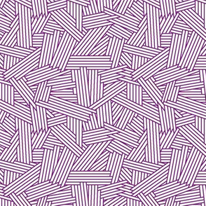Crosshatch PURPLE AOP Möba Design-ch-ch