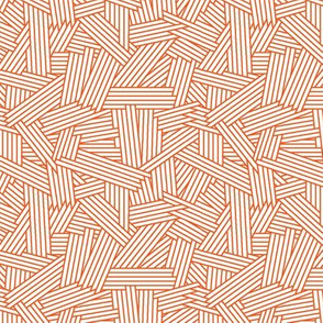Crosshatch ORANGE AOP Möba Design
