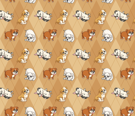 English Bulldogs (Tan) fabric by jaana on Spoonflower - custom fabric