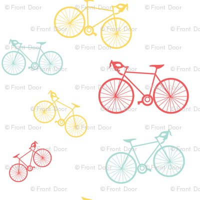 Silhouette Bikes: Multicolored