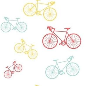 Silhouette Bikes: Multicolored