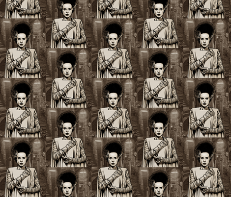 THE BRIDE OF FRANKENSTEIN fabric by cotton29 on Spoonflower - custom fabric