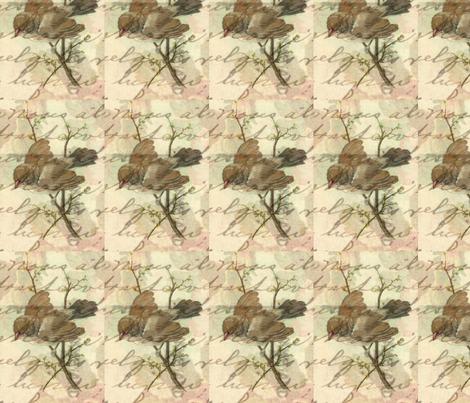 Vintage Sparrow fabric by angelandspot on Spoonflower - custom fabric