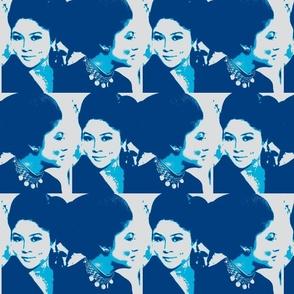 Double Imelda - Blue, Teal, Mist