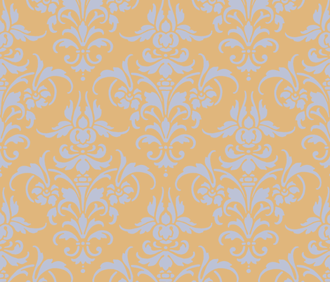 Madame de Pompadour fabric by peacoquettedesigns on Spoonflower - custom fabric