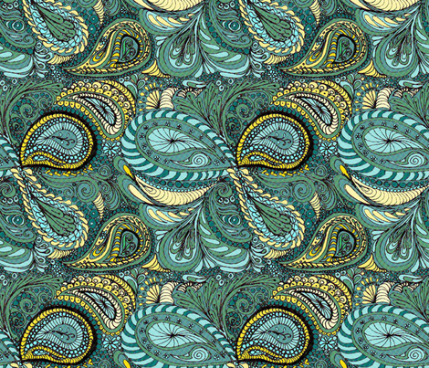 Meadow Paisley fabric by wiccked on Spoonflower - custom fabric