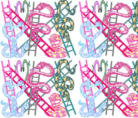 SNAKES N LADDERS fabric by bluevelvet on Spoonflower - custom fabric