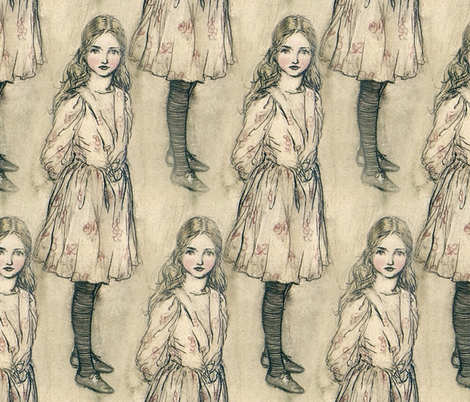 Alice fabric by peacoquettedesigns on Spoonflower - custom fabric