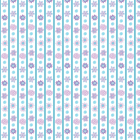 Wee Flowers: Baby Stripes fabric by tallulahdahling on Spoonflower - custom fabric