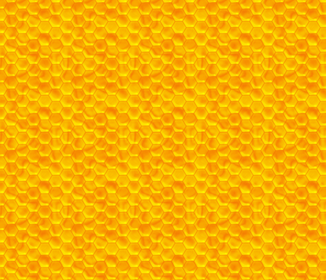 Golden Honeycomb fabric by peacoquettedesigns on Spoonflower - custom fabric