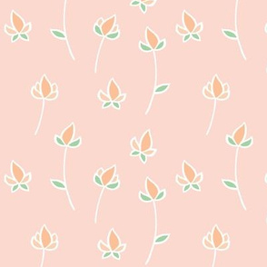 Blossom Buds in Peach and Soft Green