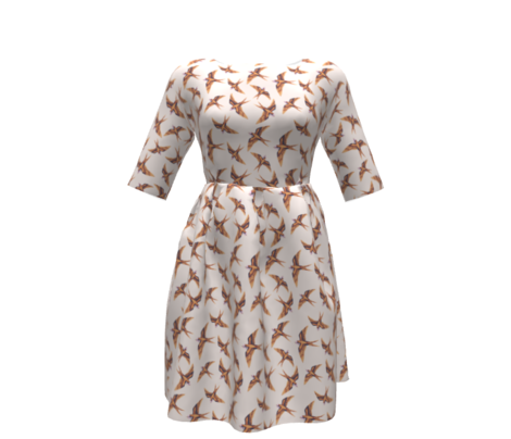Swooping Swallow in Copper & Peach