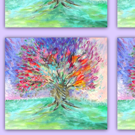 Tree of Life Cool  in focus_Swatch fabric by tree_of_life on Spoonflower - custom fabric