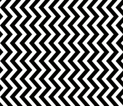 JUNE-2012-Chevron-Black-6400px fabric by tillytom on Spoonflower - custom fabric