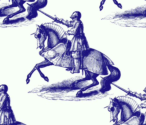 Knights of Broadway fabric by peacoquettedesigns on Spoonflower - custom fabric