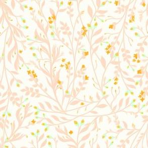 Tangled Peach Vine Lime Blossom