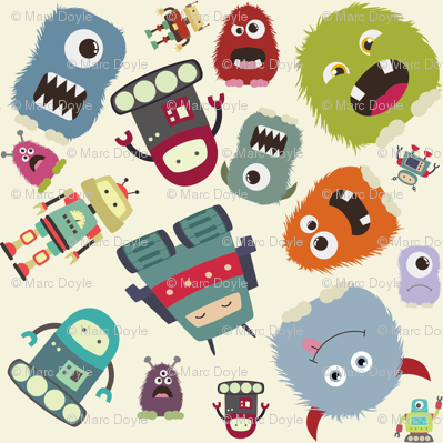 Funky Monsters and Robots