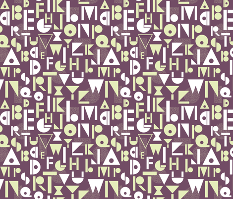 It's All Greek to Me (from A to Z) - big alpha coordinate fabric by jennartdesigns on Spoonflower - custom fabric