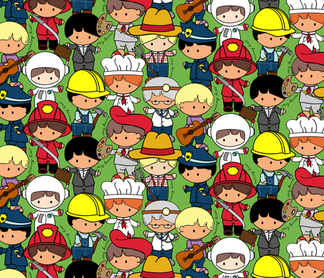 My Everyday Heroes fabric by jmckinniss on Spoonflower - custom fabric