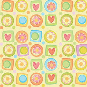 spring girls fabric
