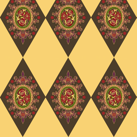 America's diamond crest fabric by paragonstudios on Spoonflower - custom fabric