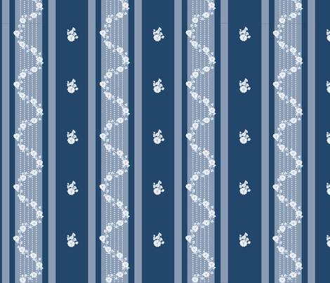 Georgian_blue_on_blue fabric by recreating_history on Spoonflower - custom fabric