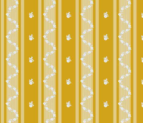 Georgian_blue_on_gold fabric by recreating_history on Spoonflower - custom fabric