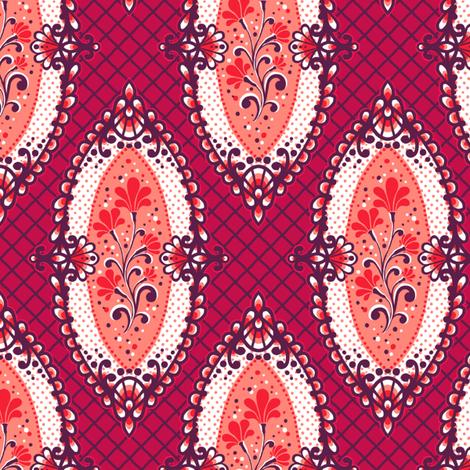 Calais-Framed Flowers fabric by siya on Spoonflower - custom fabric