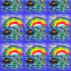 Noah_Rainbow Fractal_Olive_Branch_Swatch