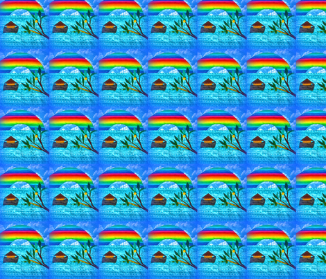 Noah Rainbow 1 piece Olive Branch_Swatch fabric by tree_of_life on Spoonflower - custom fabric
