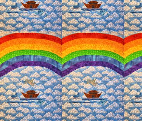 Rainbow Baby_Rainbow_Whole Cloth fabric by tree_of_life on Spoonflower - custom fabric