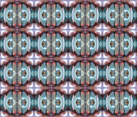 flower center in purples and blues abstract fabric by waterglider on Spoonflower - custom fabric