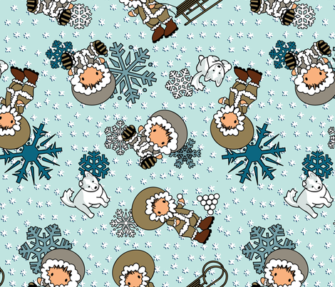 Go with the Floe - Snow fabric by jmckinniss on Spoonflower - custom fabric