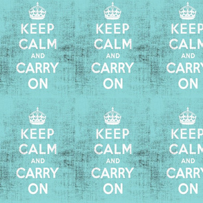 Keep Calm Blue Grunge