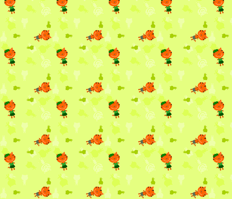 Boujour Tigers Small fabric by heathermann on Spoonflower - custom fabric