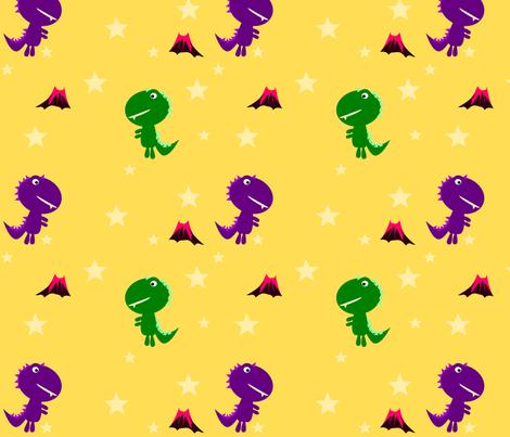 Cute Dino Stars fabric by heathermann on Spoonflower - custom fabric