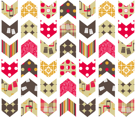 Salt 'n Pepper Chevron Cheater fabric by evenspor on Spoonflower - custom fabric
