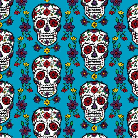 Sugar Skull Tattoo fabric by andibird on Spoonflower - custom fabric