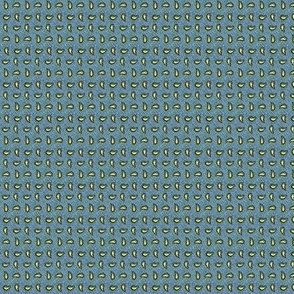 Cadet Blue with Yellow Paisleys