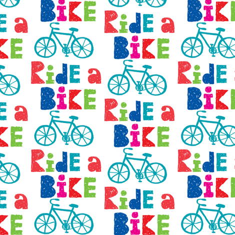Ride a Bike Sketchy fabric by andibird on Spoonflower - custom fabric