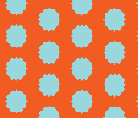 Orange Blue Moroccan fabric by stafford on Spoonflower - custom fabric