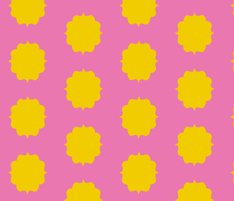 Yellow Pink Moroccan fabric by stafford on Spoonflower - custom fabric