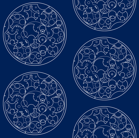 Sherlock Gallifreyan fabric by phantomssiren on Spoonflower - custom fabric