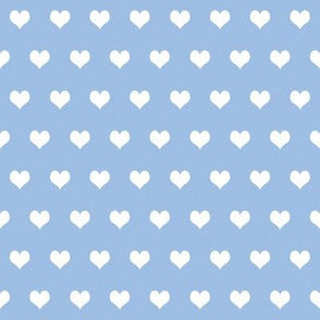 Swedish Folk Hearts in Pale Blueberry Blue