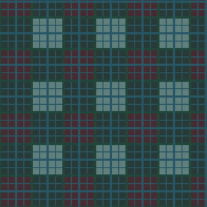 Tartan of an arrow slinging clan. Brave