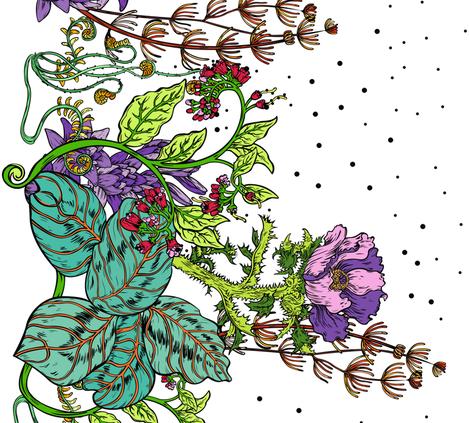 Summer Garden fabric by anastasiachatzka on Spoonflower - custom fabric