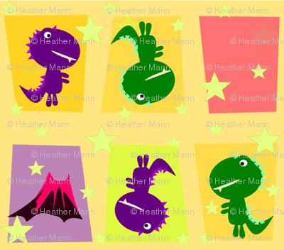 Cute Mod Dinos Yellow