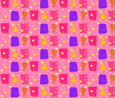 Bonjour Mod Tigers Pink fabric by heathermann on Spoonflower - custom fabric